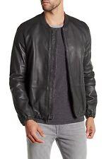 Vince - Dark Grey Leather Bomber Jacket - Size Medium - $995 MSRP