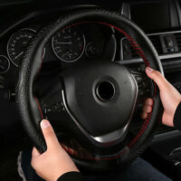2 Styles Universal Genuine Leather Car Accessories Steering Wheel Cover Top 1x