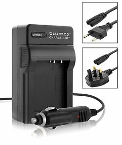 Camera Battery Mains and Car Charger with UK EU Plugs for Sony NP-FM50 FM70 FM90