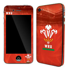 Wales Rugby Union iPhone 4 or 4S Skin Sticker Official Welsh RFU Item Brand New