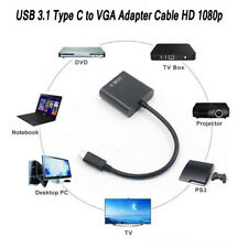 Type C USB-C Male to VGA Female HDTV USB 3.1 Adapter Converter Cable 1080P HD
