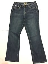 Earl Jeans Size 10 Boot cut, flap pockets, Bling 32 X 31 thick stitch stretch