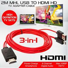 MHL Micro USB to HDMI Cable TV Out Lead 1080p for Samsung Galaxy S5 S4 S3 Note 4