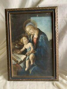 Antique Vintage Framed Print Botticelli's Madonna of the Book - Interior Design