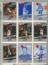 1990-91 EQUAL STAR SET Michael Jordan + Bob Love & Artis GIlmore AUTO signed