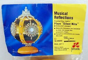 Huge LeeWards Musical Reflections Silent Nite Kit Sequin Bead Christmas Ornament
