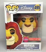 Funko Pop Disney Mufasa 495 Vinyl Figure Flocked Target Exclusive
