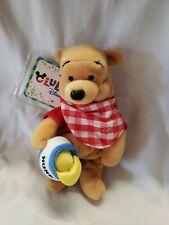 Picnic Winnie The Pooh Plush Mini Bean Bag Stuffed Toy Club Disney Tag version