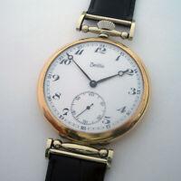 Rare Big Swiss ANTIQUE Wristwatch ZENTRA with Enamel Dial