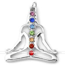 Yoga Meditation 7 Gemstone Crystal Bead Reiki Healing Energy Chakra Pendant