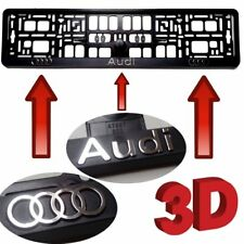 2x AUDI 3D CHROME EFFECT NUMBER PLATE SURROUNDS HOLDER FRAME FOR ANY AUDI