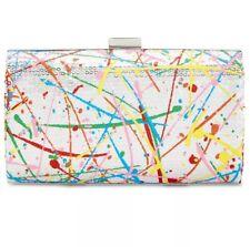 Inc International Concepts Paint Splatter Clutch Chain Bag Hard Shell Crossbody