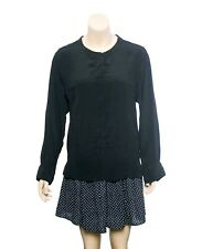 9556 New $179 Isabel Marant Buttondown Long Sleeve Silk Blouse Tunic Top M 38