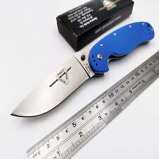 RAT Model1 Folding Knife AUS-8 Blade G10 Handle Tactical Pocket Knive Blue OEM
