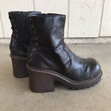 Vintage Lei Chunky Size 8.5 Brown Platform Boot