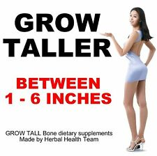 Grow 1 - 6 Inches In Height BE TALLER 240 800mg Bone Supplements 4 Month course