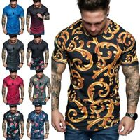 Summer Men's Slim Fit O Neck Short Sleeve Muscle Tee T-shirt Casual Tops Blouse