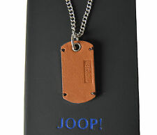 JOOP! Herren Halskette Anhänger Bruce Edelstahl Leder JPNL10520A500 NEU
