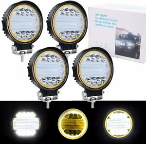 """2X4.5"""" LED Pods, Round Light Bar for Off-road Tractor Truck Agriculture Vehicles"""