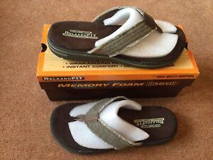 Mens Size Uk 8 Skechers Relaxed Fit Memory Foam 360 Flip Flops/ Sandal