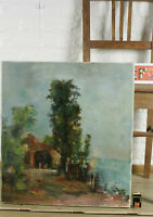 Carl Dörrbecker 1894-1983 Oil Painting Older 1971 Lake Impressionist Ammersee?