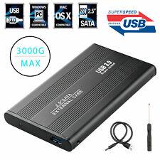 "USB 3.0 SATA External Aluminum 2.5"" Hard Drive Case Cover 500 GB HDD Max US"