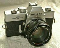 Minolta SRT 101 SLR 35mm Student Camera w/ 50MM F1;7 MC PF Rokkor X Lens N.Mint