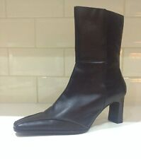 Ladies Boots Brown Size 6 (39) LOTUS 100% Soft Leather Heels