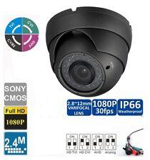 2 pc HD CVI 1080P Dome Camera 2MP HDCVI Sony CMOS, Varifocal 2.8-12mm 36 IR GRAY