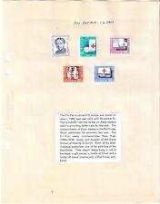 Switzerland Pro Patria  1963 Red Cross 5 stamps medicine