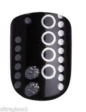 24pk IMPRESS PRE-GLUED/ACRYLIC STICK-ON NAILS/DRAG QUEEN- Black & White Dots