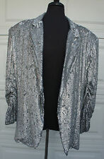 Lionel Richie Costume Landry Fields SING YOUR FACE OFF men grey sequin jacket XL