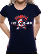 Official Women's Looney Tunes Anti-football Marvin The Martian Fitted T-shirt WB16432SKCLL Large
