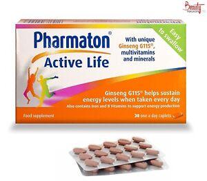 PHARMATON ACTIVE LIFE CAPLETS 30 New