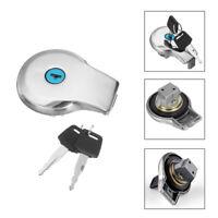 Tan Fuel Gas Cap Lock Key para Yamaha XV 1100/535/750 Virago XS400 XJ 650/700 A