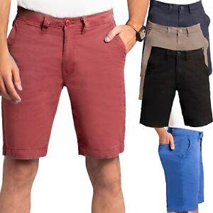 Mens Chino Shorts Stretchable Casual Summer Slim Golf Half Pants UK Size Stock
