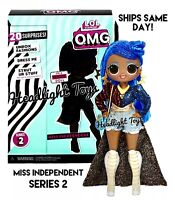 "1 Authentic LOL Surprise MISS INDEPENDENT OMG 10"" Fashion Doll Series 2 Wave 1"