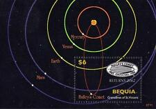 Bequa 2007 Space S/S Halley´S Comet & Solar System Planets Mnh Astronomy Science