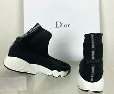 Dior J'adior New 6.5 7 US 36.5 EU Runway Auth Black High Sneakers Shoes Boots