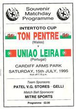 More details for ton pentre v uniao leira intertoto cup 15 jul 1995