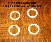 Atlas Lathe Countershaft 4 Felt Washers Part # 9-111 10 Inch Lathe / 7 Shaper