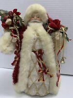 "Vintage Santa Claus Tree Topper Christmas Tabletop Decoration 12"" Tall Bag"