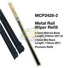"""TRIDON WIPER METAL RAIL REFILL PAIR FOR Mitsubishi Lancer 01/02-12/12  24""""+28"""""""