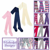 Girls Infant 3 Pairs Tights Cotton Rich Unicorn Hearts Stars 2 3 4 5 6 7 8 Years
