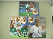 3 Brandi Chastain USA Women's Soccer Autographed 8x10 Photos COA FREE Ship