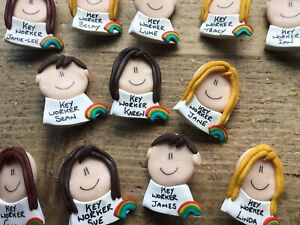 key worker badge Personalised Nurse Doctor NHS Heroes Teachers Gift Pin