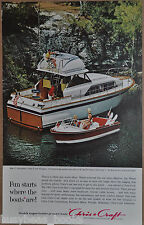 1963 CHRIS-CRAFT advertisement, Chris Craft 37ft Constellation cabin cruiser