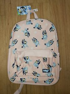 Bluey Pink Backpack/School Bag New