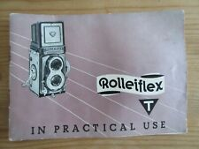 1961 Vintage Rolleiflex Franke & Heidecke Camera Parts List & Instruction Manual