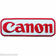 Canon Logo Sew Embroidered Iron on Patch Jacket T shirt Bag Case Vest Cap #E001